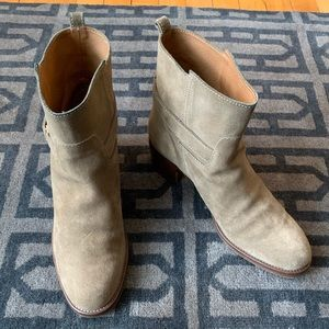 J Crew Parker Suede Ankle Boots Weathered Sage